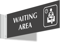 Waiting Area Corridor Projecting Sign
