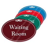 Waiting Room ShowCase Sign