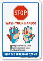 Stop! Wash Your Hands! Sign