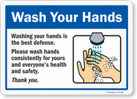 Wash Your Hands Consistently For Health And Safety Sign