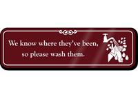 Wash Your Hands Humorous Bathroom Wall Sign