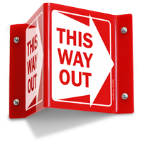 This Way Out (with Right Arrow)