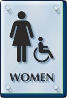Women And Handicap Restroom ClearBoss Sign