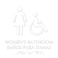 Women's Bathroom Tactile Touch Braille Bilingual Sign