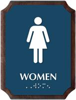 Women Braille TactileTouch Wooden Plaque