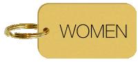 Women Engraved Brass Keychain