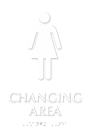 Women Changing Area TactileTouch™ Sign with Braille