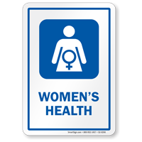 Women's Health Sign with Female Health Care Symbol