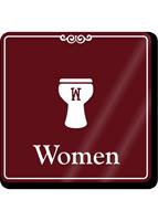 Women Humorous Restroom Showcase Sign