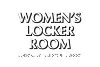 Women's Locker Room TactileTouch Braille Sign