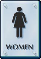 Women Restroom ClearBoss Sign