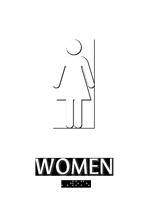 Women Bathroom, Women Sign
