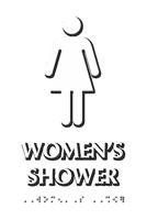 Women's Shower Tactile Touch Braille Door Sign