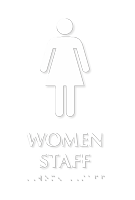 Women Staff TactileTouch Braille Restroom Sign