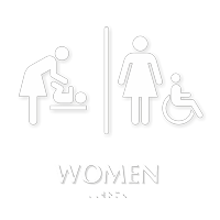 Women TactileTouch Braille Restroom Sign