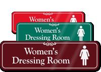 Women's Dressing Room ShowCase Wall Sign