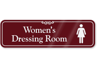 Women's Dressing Room ShowCase Wall Sign