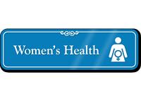 Women's Health Hospital Showcase Sign