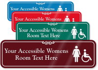 Accessible Womens Room Symbol Sign