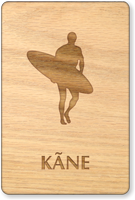 Kane Wooden Restroom Sign