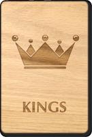 Kings Crown Wooden Restroom Sign