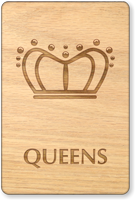 Queens Crown Restroom Sign