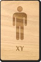 XY Men Wooden Restroom Sign