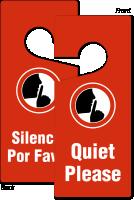 Bilingual Quiet Please Silencio Por Favor Hang Tag