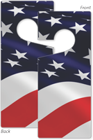 American Flag Door Hang Tag