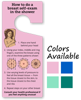 How To Do Breast Self-Examination in Shower Hang Tag