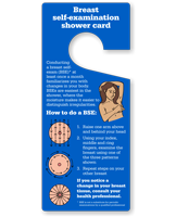 Breast Self-Examination Shower Card Hang Tag
