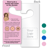 2-Sided Breast Self-Exam Hang Tag