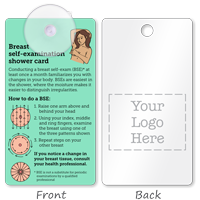 2-Sided Breast Self-Examination Card Suction Cup Tag