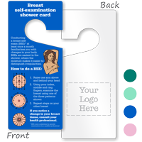 2-Sided Breast Self-Examination Card Hang Tag