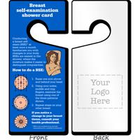 2-Sided Breast Self-Examination Card Hang Tag