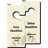 Custom Headline Door Hang Tag