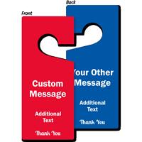 Custom Message Door Hang Tag