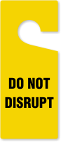 Do Not Disrupt Door Hang Tag