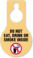 Do Not Eat Drink Smoke Hang Tag