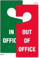 Out Of Office, In Office Door Tag