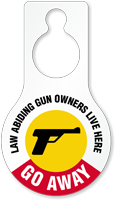 Law Abiding Gun Owners Humorous Hang Tag