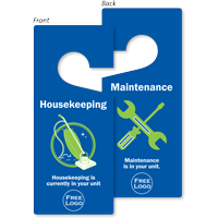 Custom Maintenance Housekeeping Hang Tag