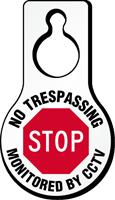 No Trespassing Monitored By CCTV Hang Tag