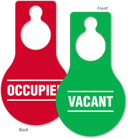 Occupied Vacant Two Sided Door Hang Tag