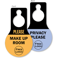 Custom Privacy Pear Shaped Door Hang Tag