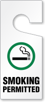 Smoking Permitted Door Hanging Tag