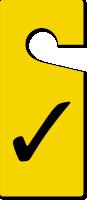 Tick Symbol Room Checked Door Hanger