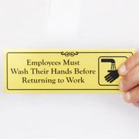 Employees Must Wash Hands Door Sign