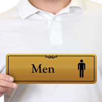 Men Gold DiamondPlate™ Door Sign