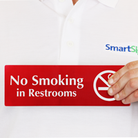 No Smoking in Restrooms  Sign